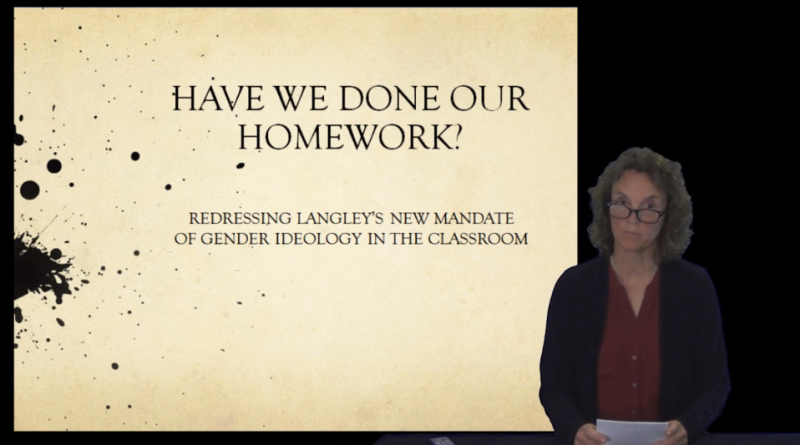 SOGI Presentation to Langley School Board by Sue Hitchman