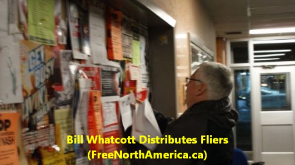 bill whatcott distributes flyers