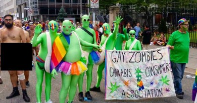 green zombies pride parade toronto
