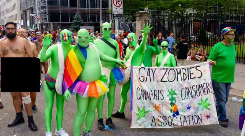 green zombies pride parade toronto