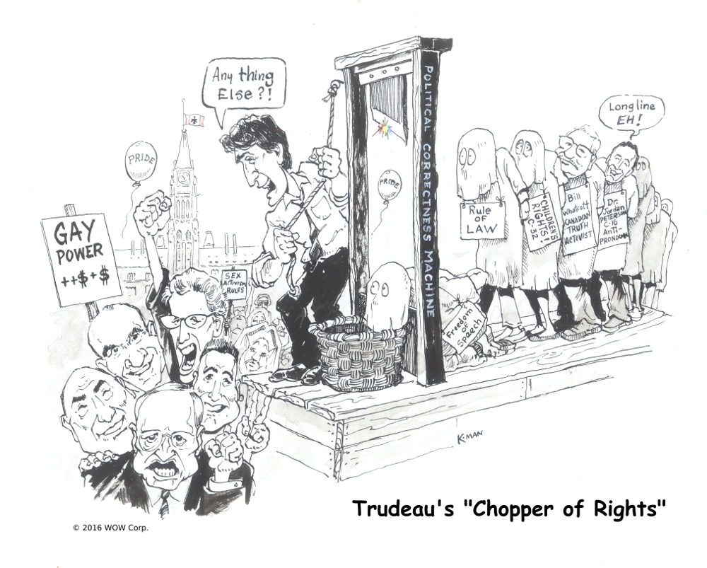 justin trudeau chopper of rights