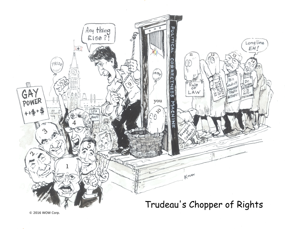 justin trudeau chopper of rights numbered annotated